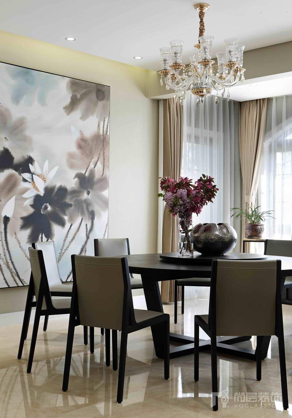 保利垄上美式餐厅别墅装修实景图