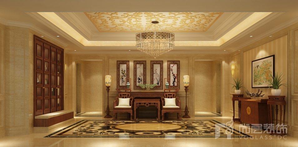 香山清琴欧式门厅别墅装修效果图