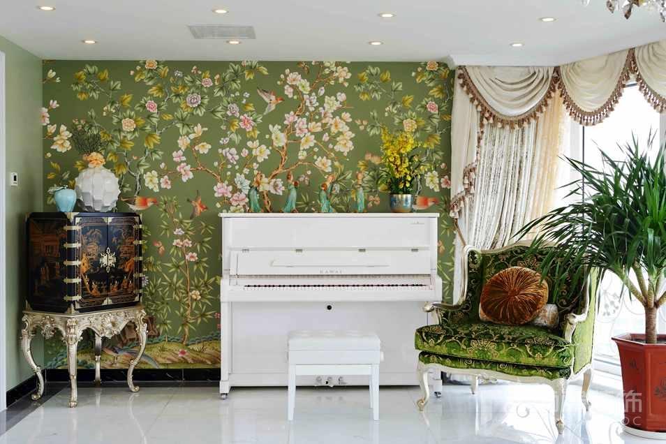 阳光上东法式新古典钢琴区别墅装修实景图
