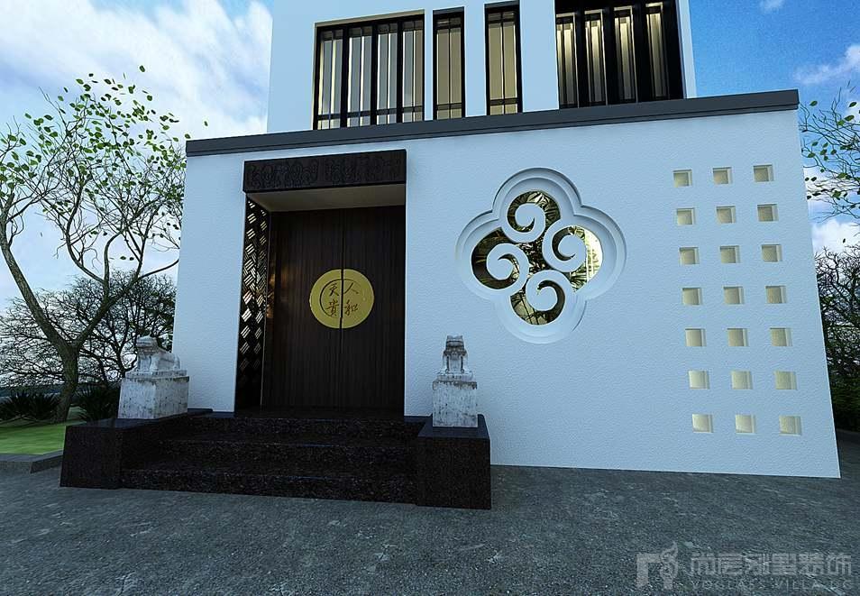 天贵人和新中式外景别墅装修效果图