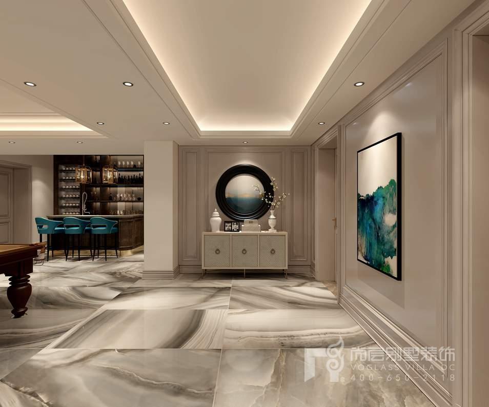 金地中央世家新古典地下门厅别墅装修效果图