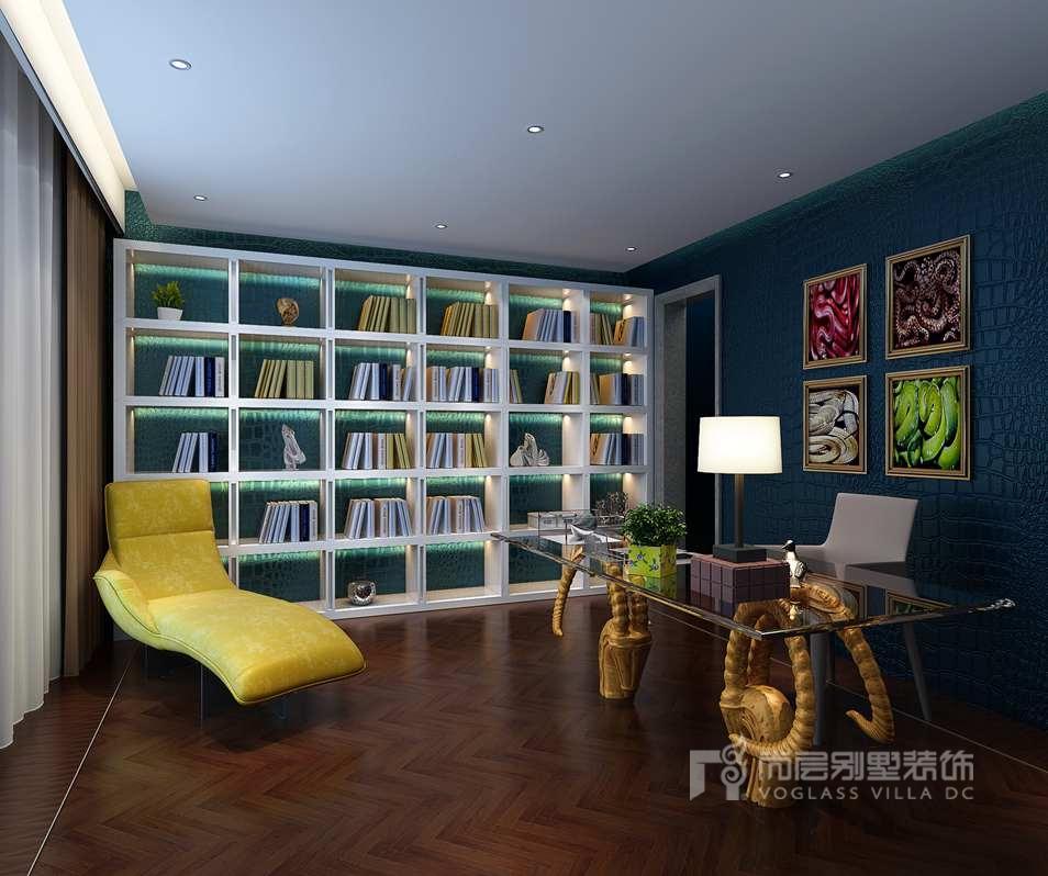 中海尚湖世家现代书房别墅装修效果图