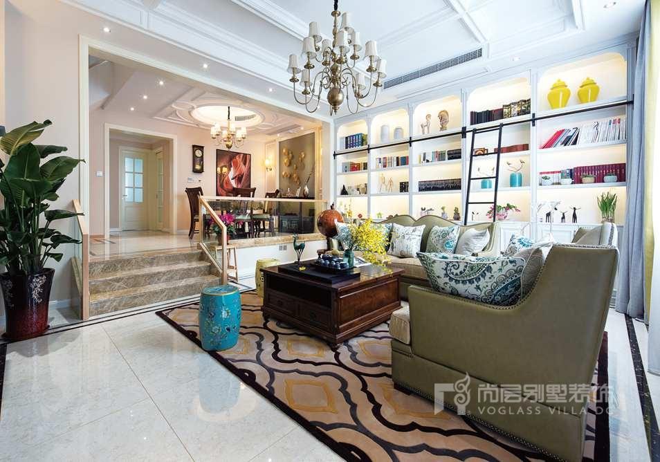 别墅空间设计-客厅实景图