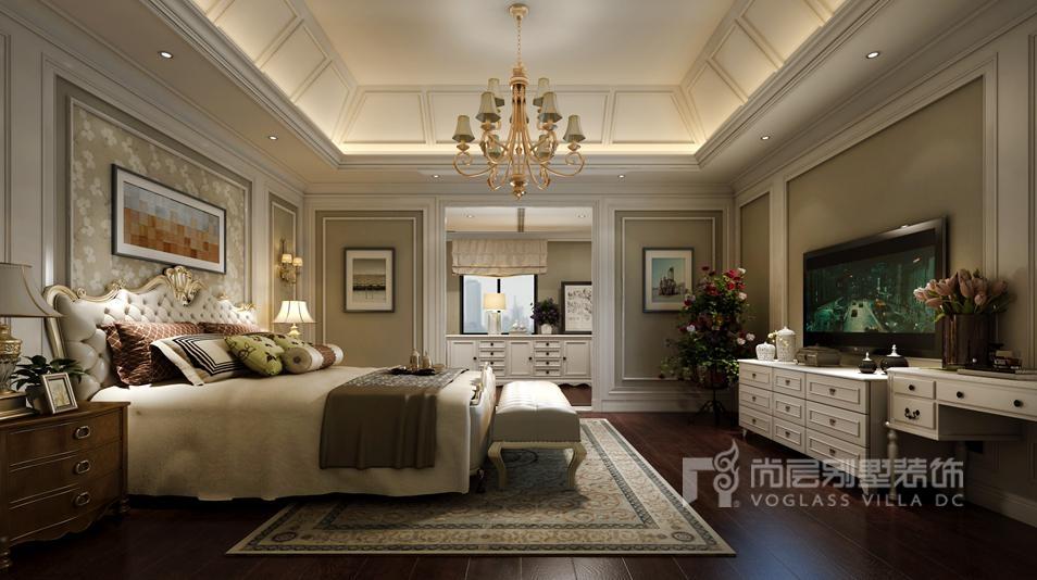 影院的设计突出灯饰在简欧别墅装修设计风格中占据的重要组成部分.