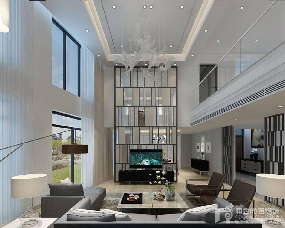大华西郊独栋别墅装修设计新中式效果图