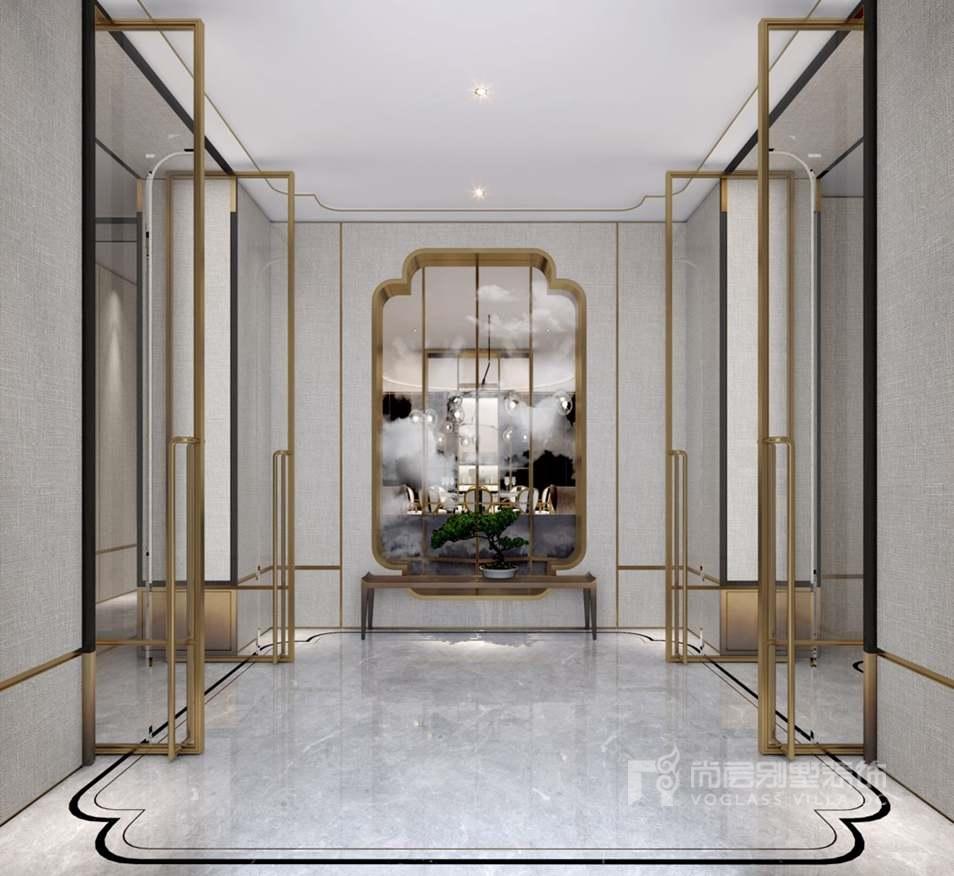新中式门厅别墅装修效果图