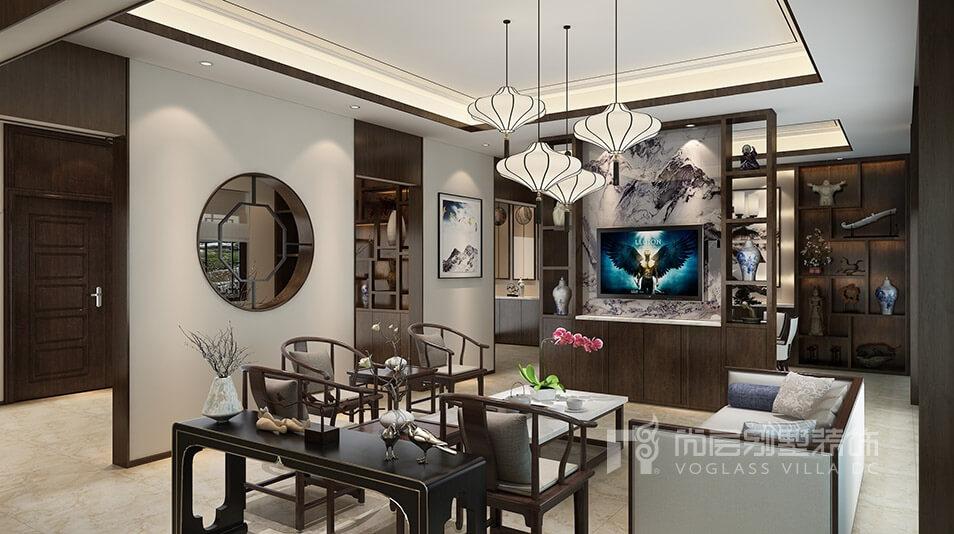 一场新中式别墅装修设计视觉盛宴