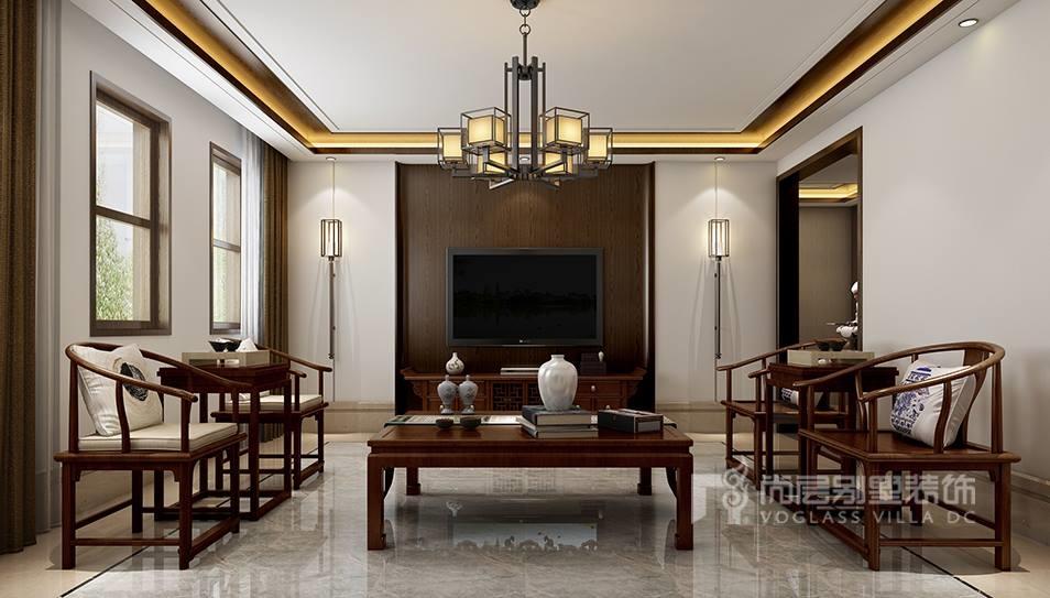 水墨画是代表中国的古典艺术,而门厅影壁墙